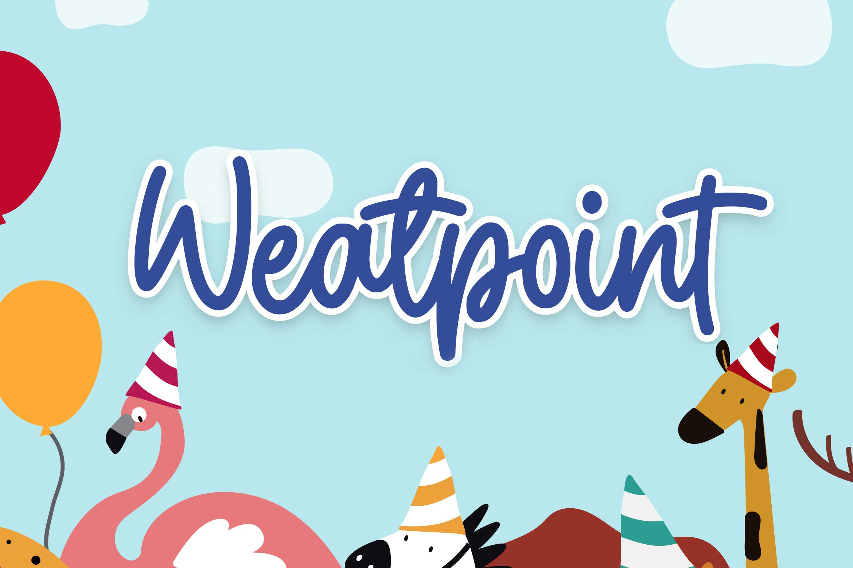 Weatpoint - Playful Script Font example image 1