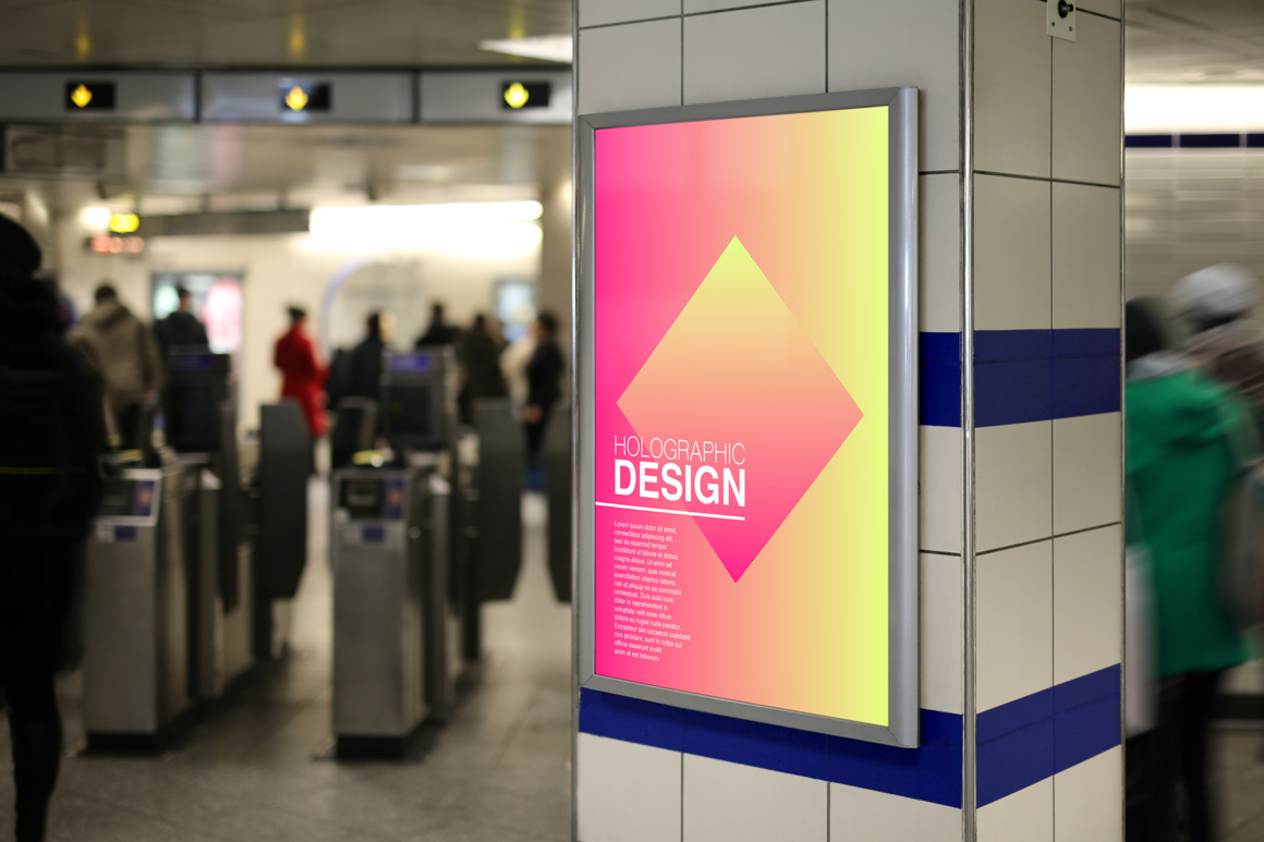 Colorful gradient trendy posters example image 4