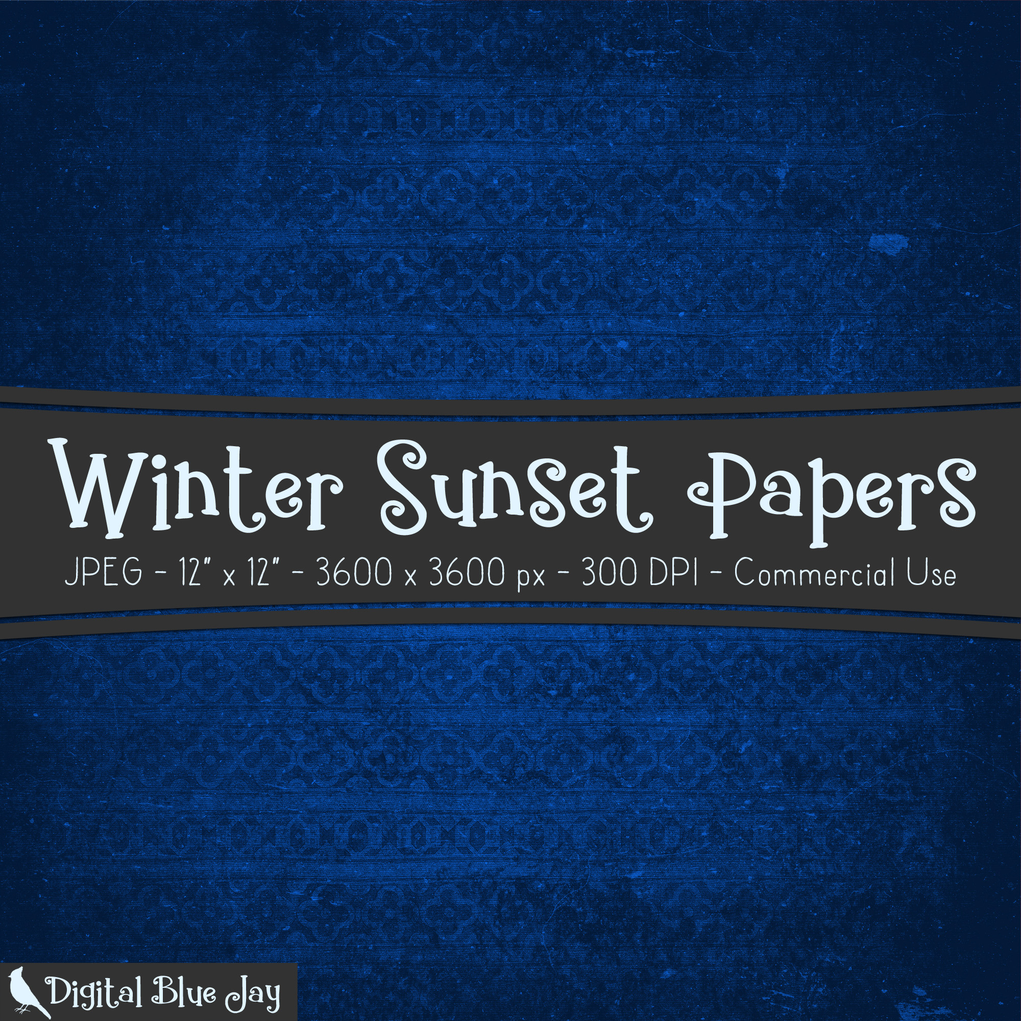 Digital Paper Textured Backgrounds - Winter Sunset example image 2
