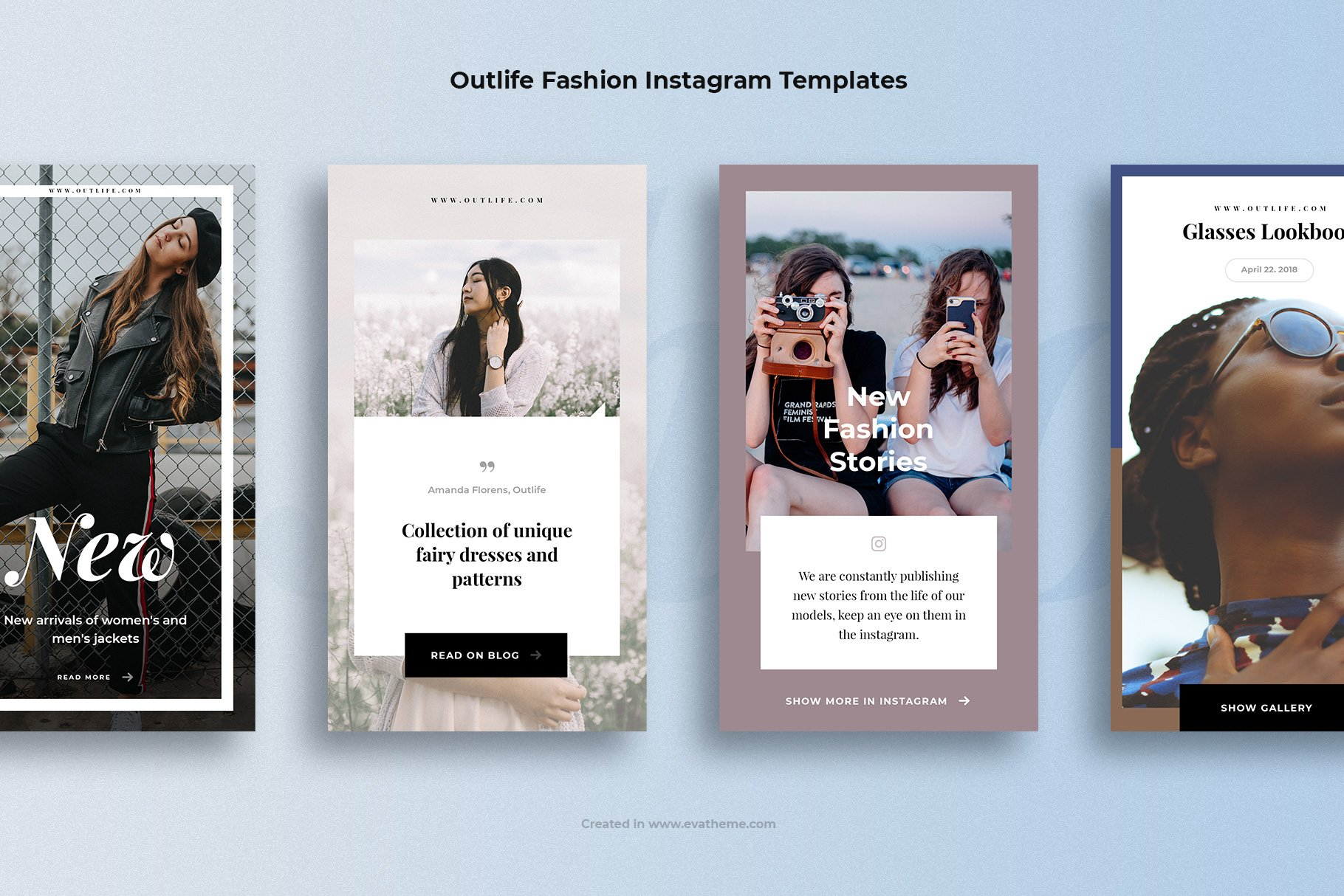Outlife Fashion Instagram Templates example image 3