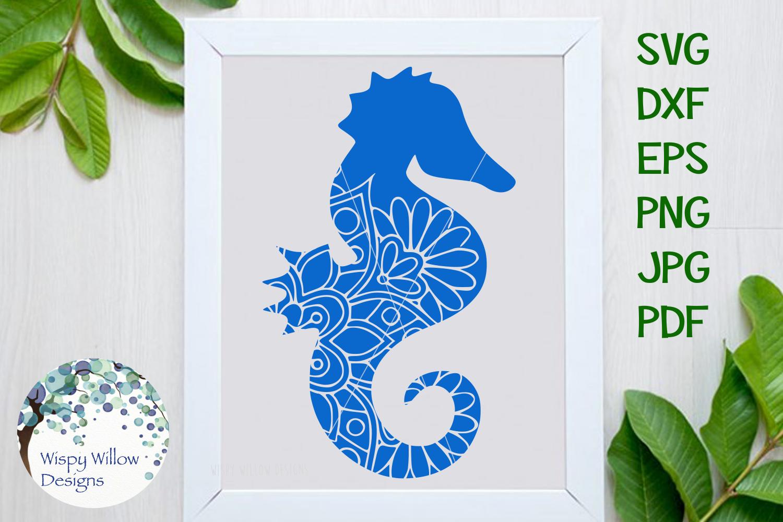 Nautical Mandala Bundle, Whale, Mermaid, Turtle, Starfish example image 2