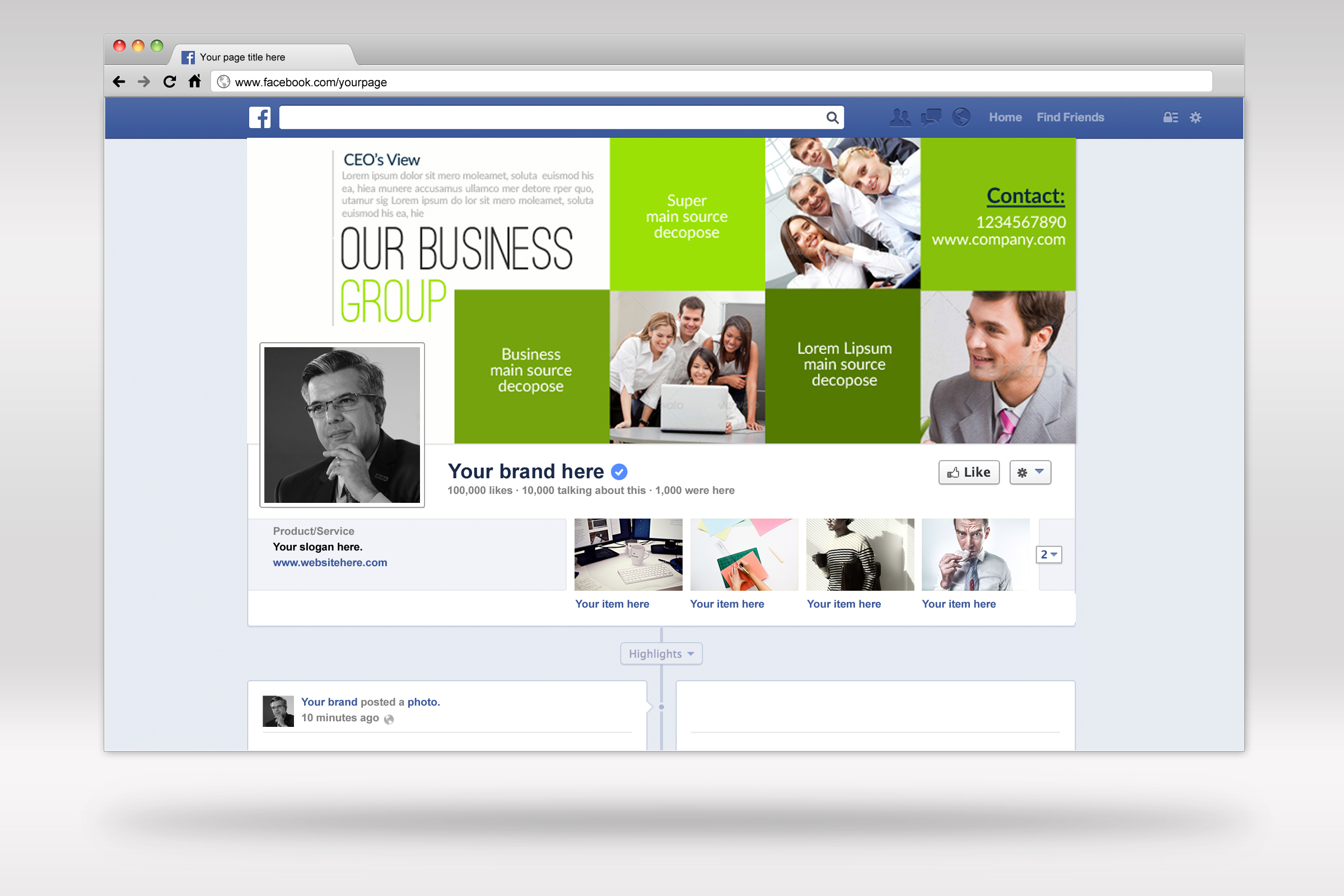 Business Corporate Facebook Cover example image 2