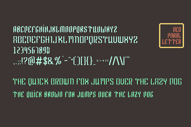 Neo Paralletter Font example image 9