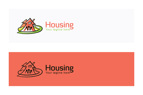 Housing - Real Estate Logo Design Template for Residentia example image 2