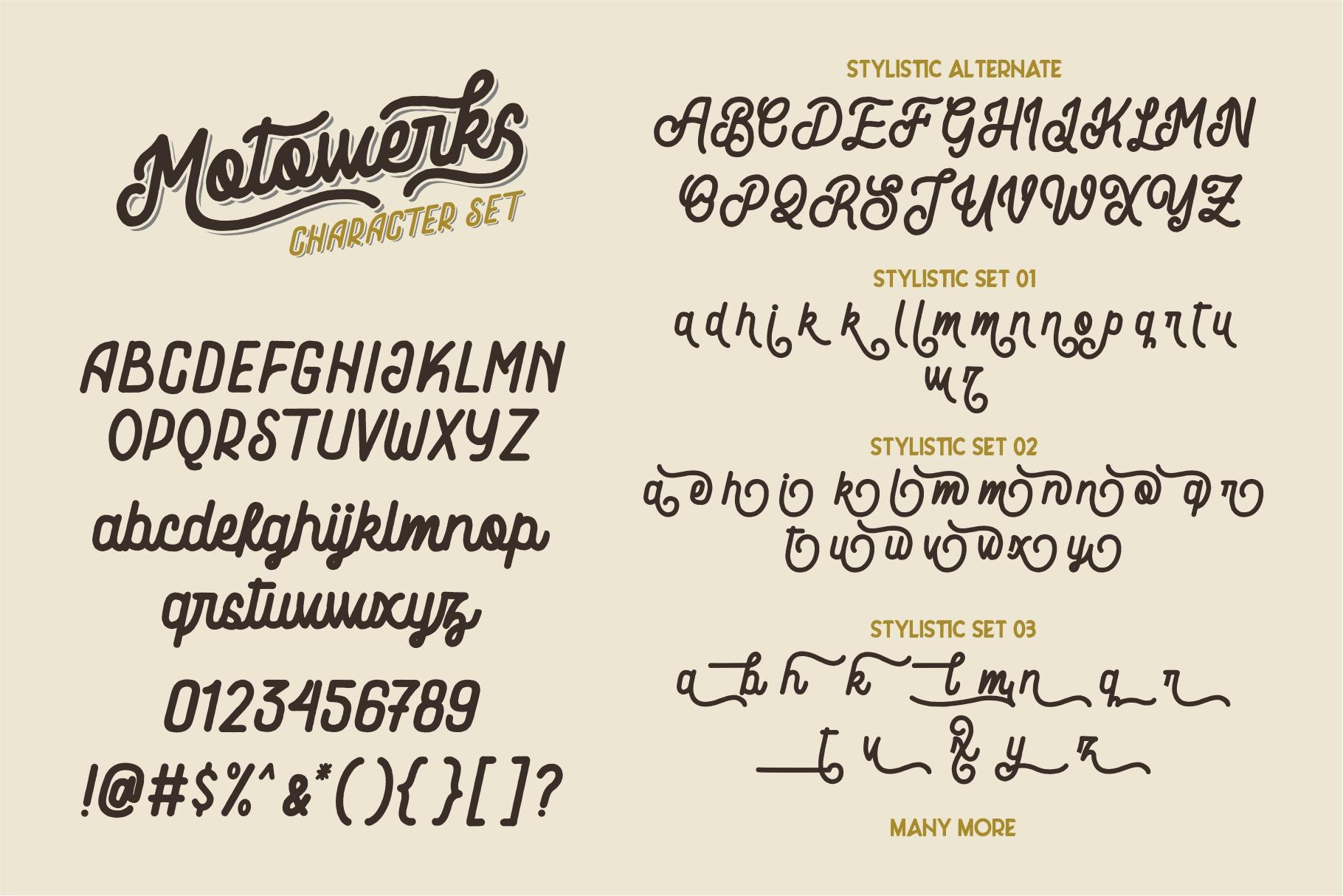 Motowerks Vintage Script example image 5