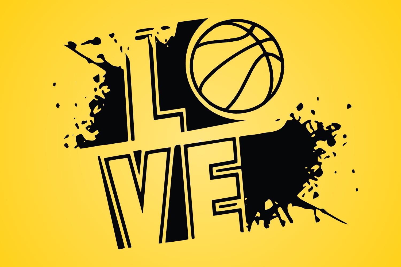 basketball svg, basketball clipart, basketball vector, SVG example image 1