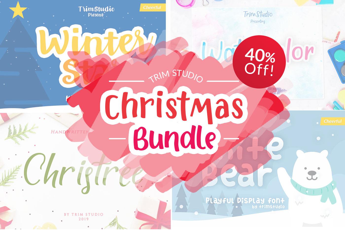 Trim Studio Christmas Bundle Fonts Collection example image 2
