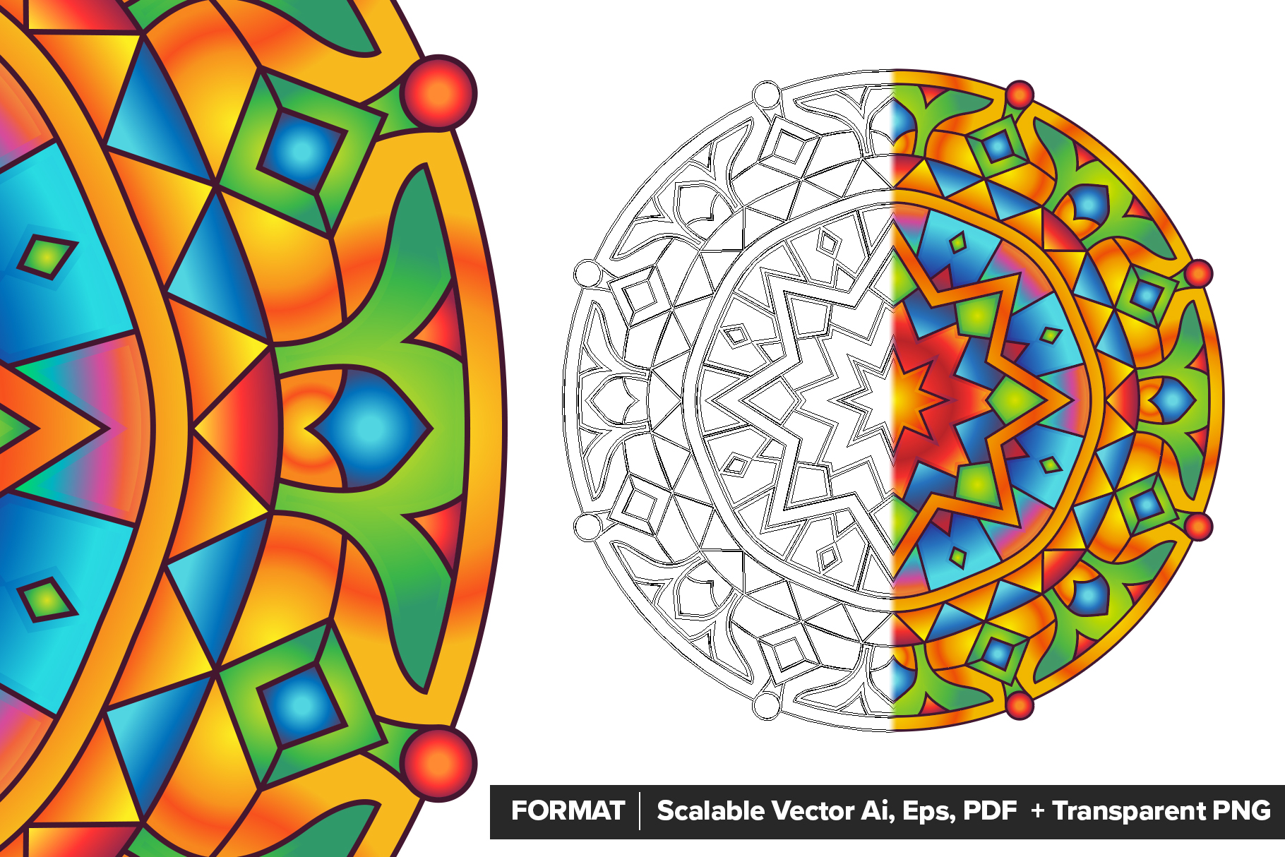 Mandala Vector Ornaments Bundle example image 3