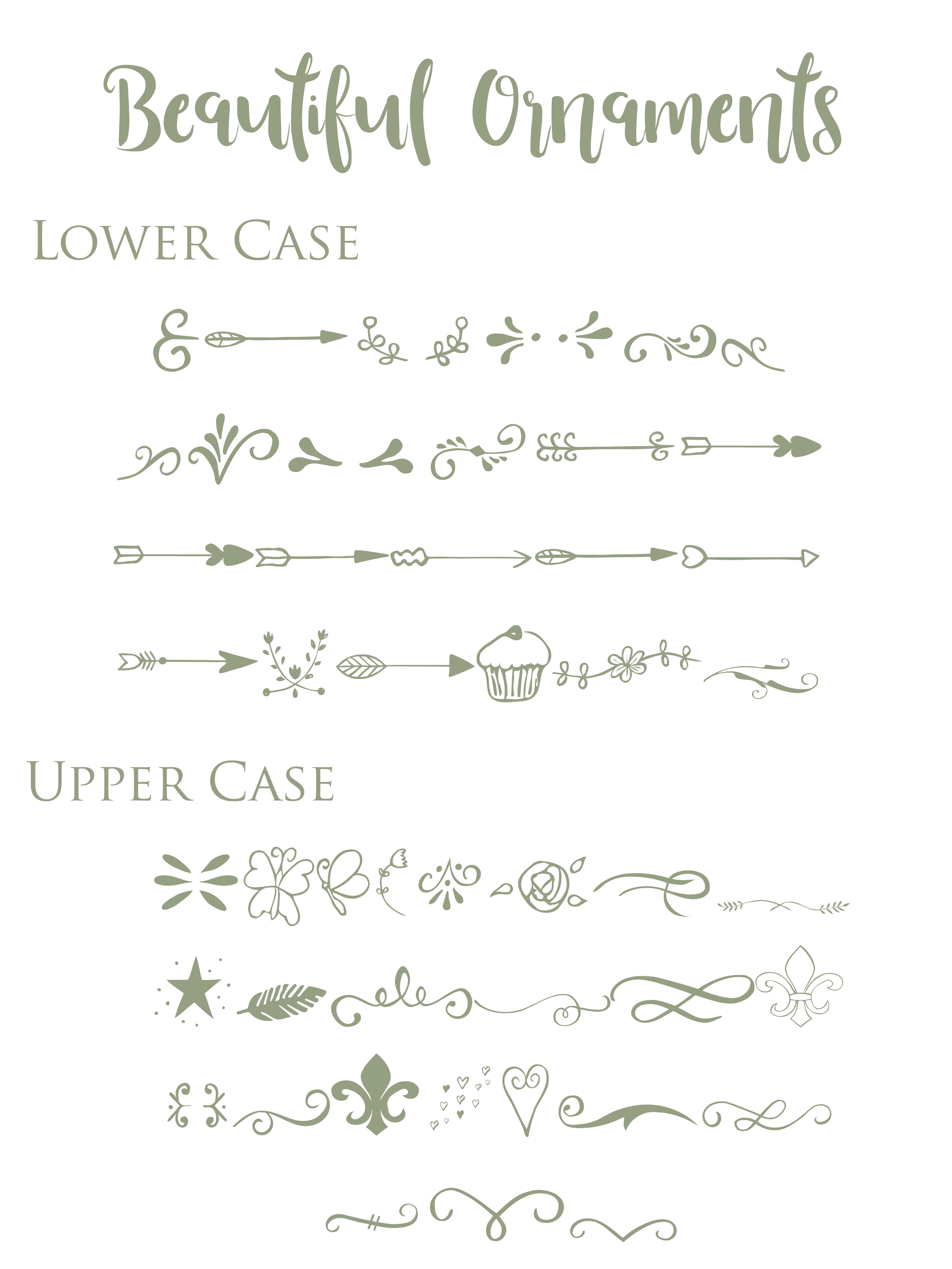 Beautiful Font with Bonus Ornament font example image 7