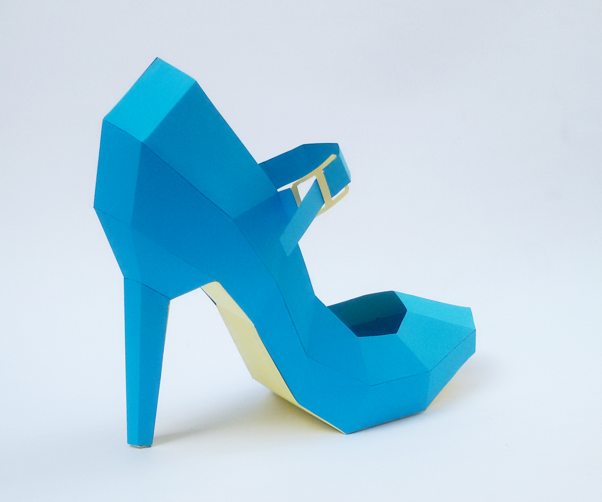 DIY High Heel Belly Model - 3d papercraft example image 2