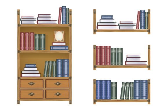Bookcase vector illustration example image 1
