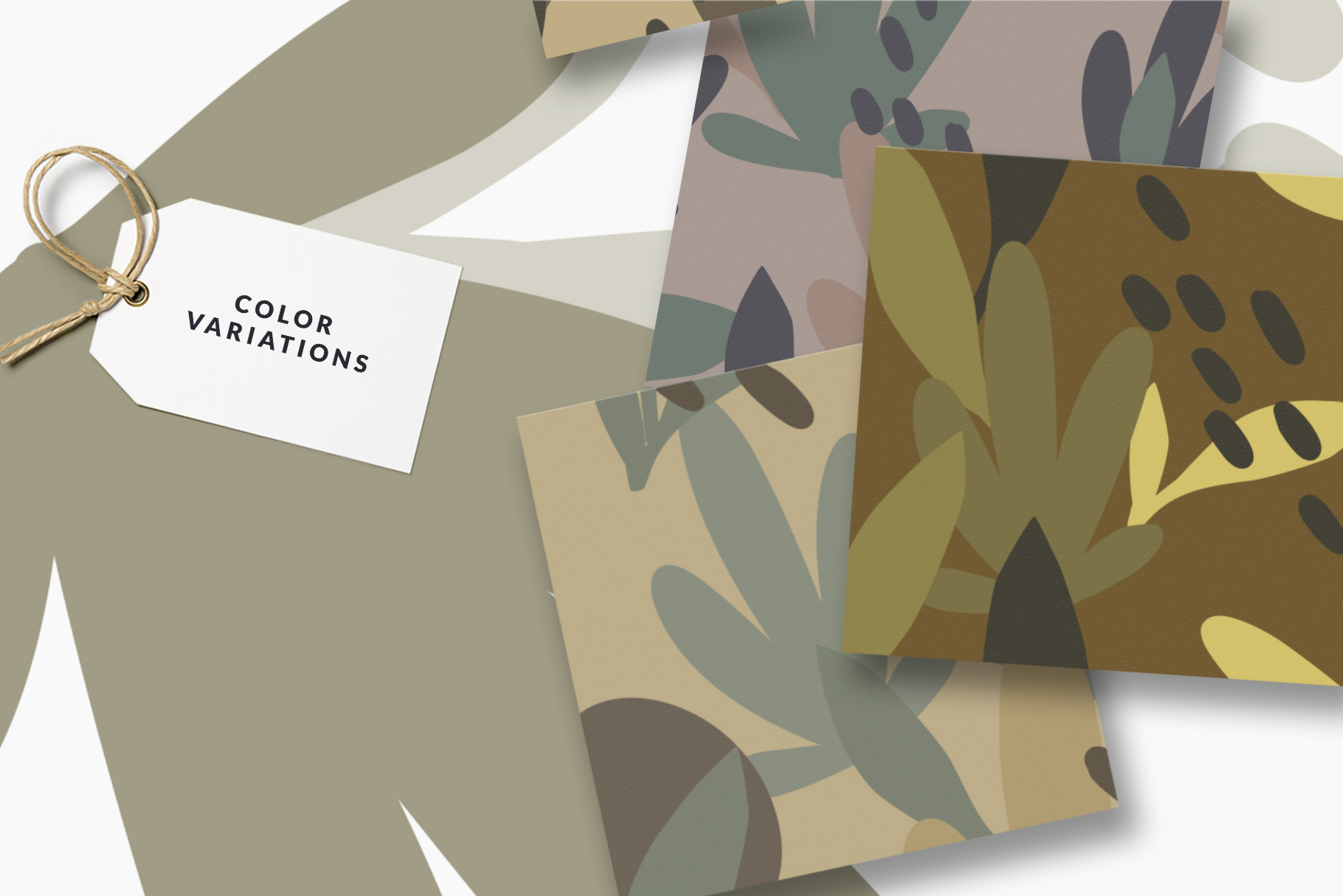 Camouflage Floral Pattern Set example image 6