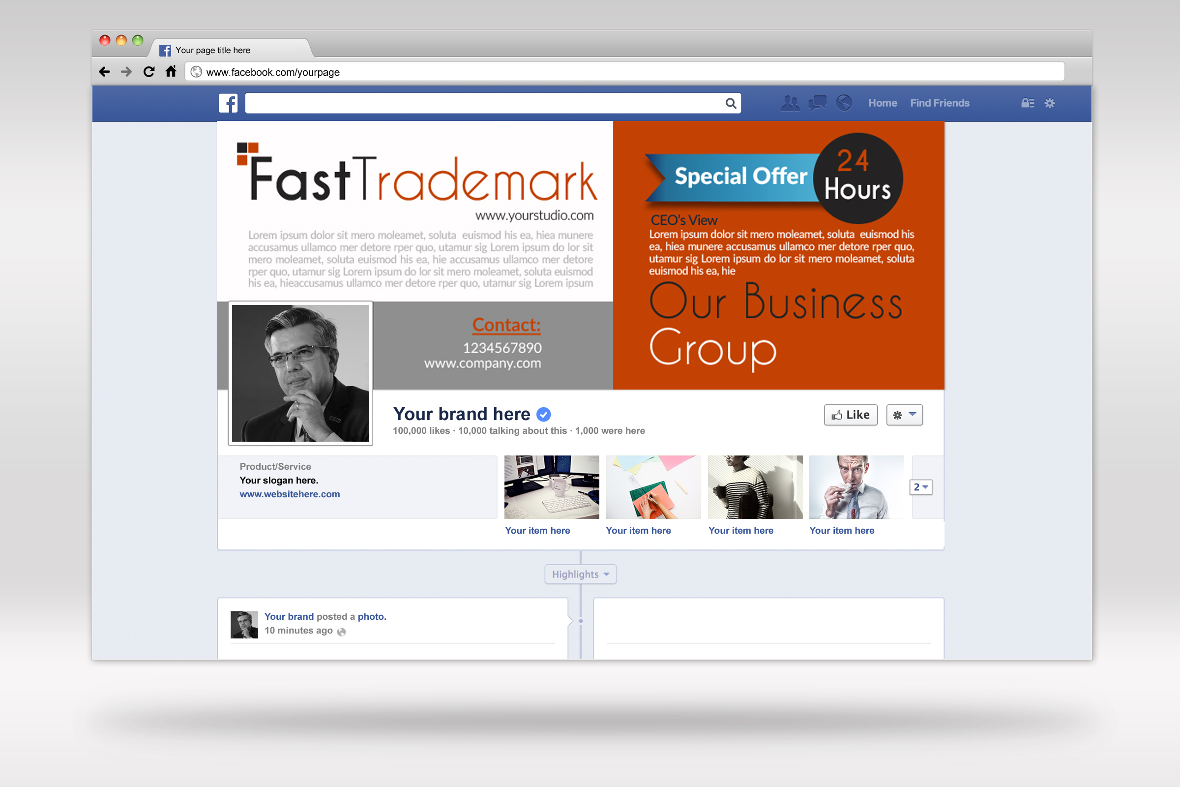 Business Solutions Consultant Facebook Cover example image 2
