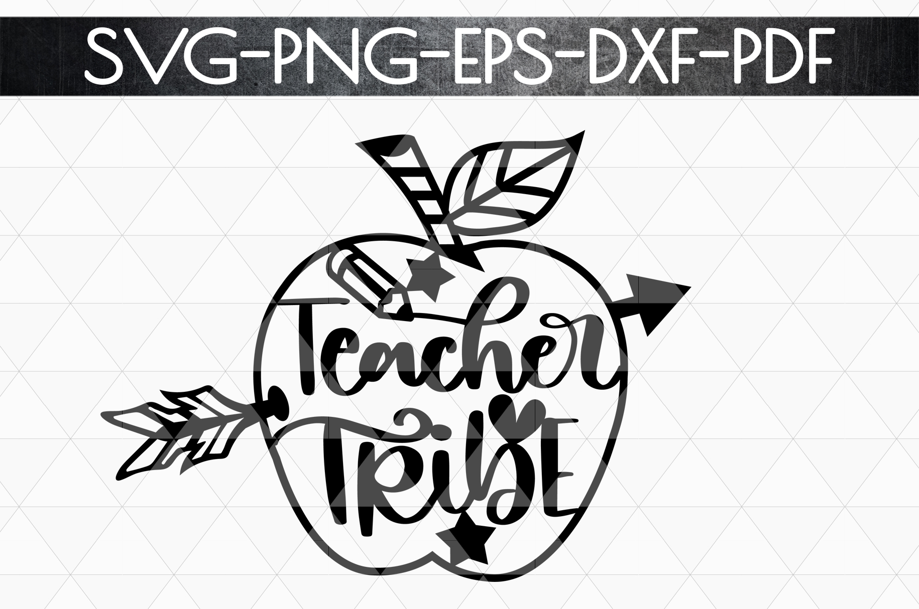 Teacher Tribe Papercut Template, Teacher Appreciation SVG example image 5