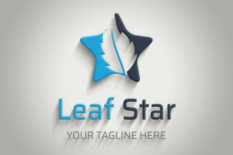 Oak leaf in Star Logo example image 3