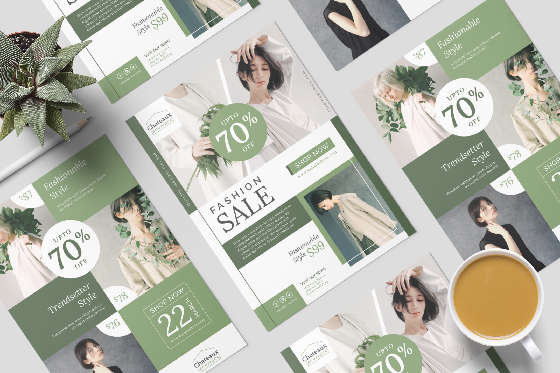 Fashion flyer template example image 10