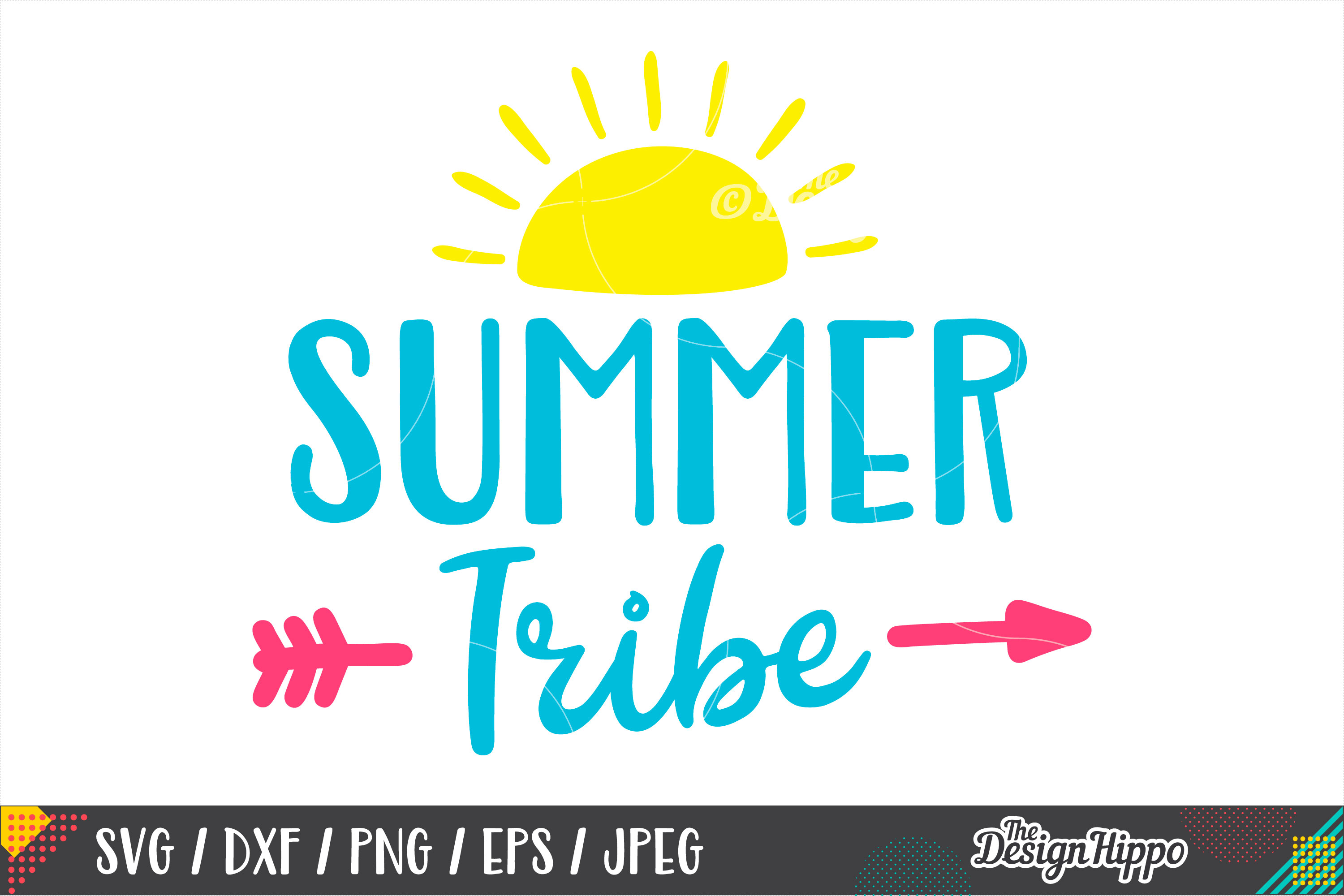 Summer Tribe SVG, Squad, Kids, Arrow, SVG PNG DXF Cut Files example image 1