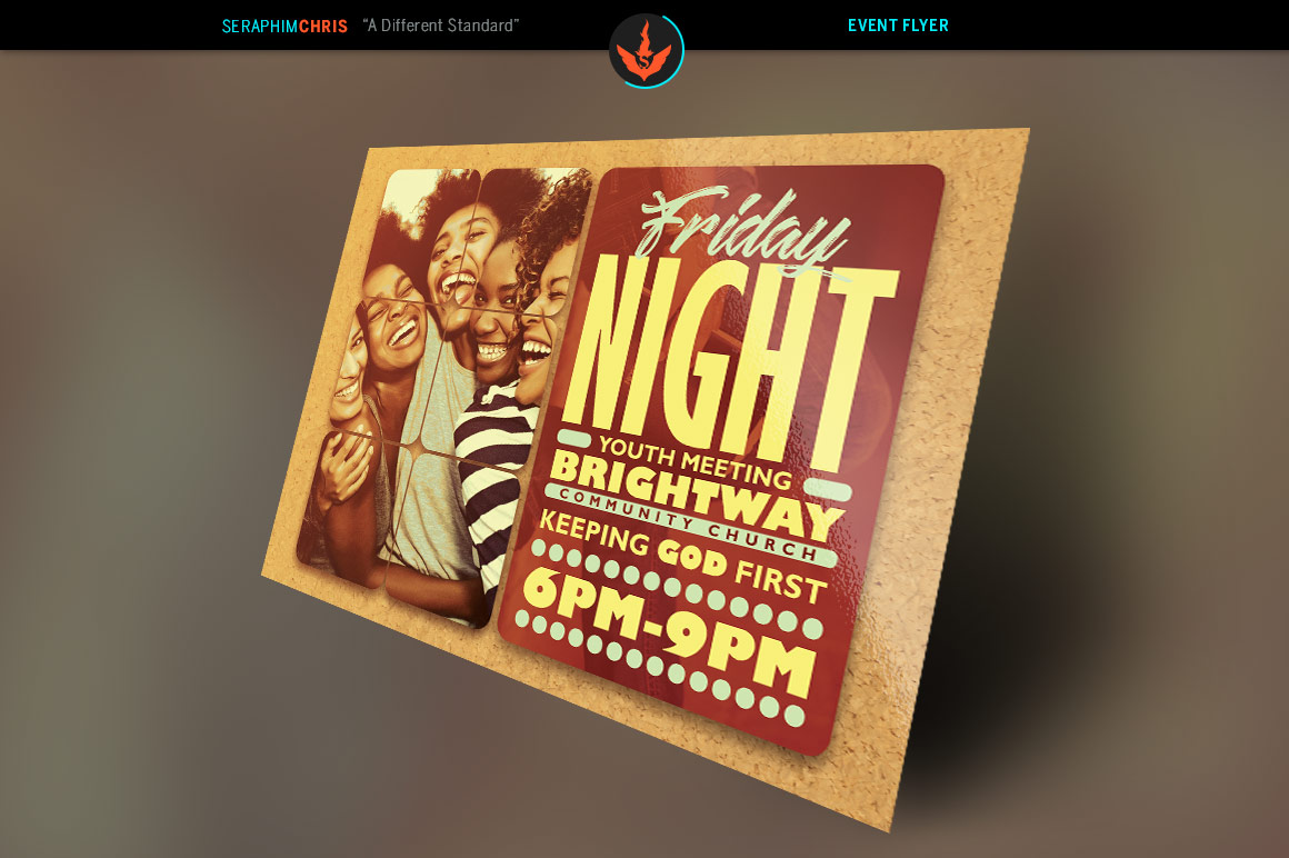 Youth Group Church Flyer Photoshop Template example image 2