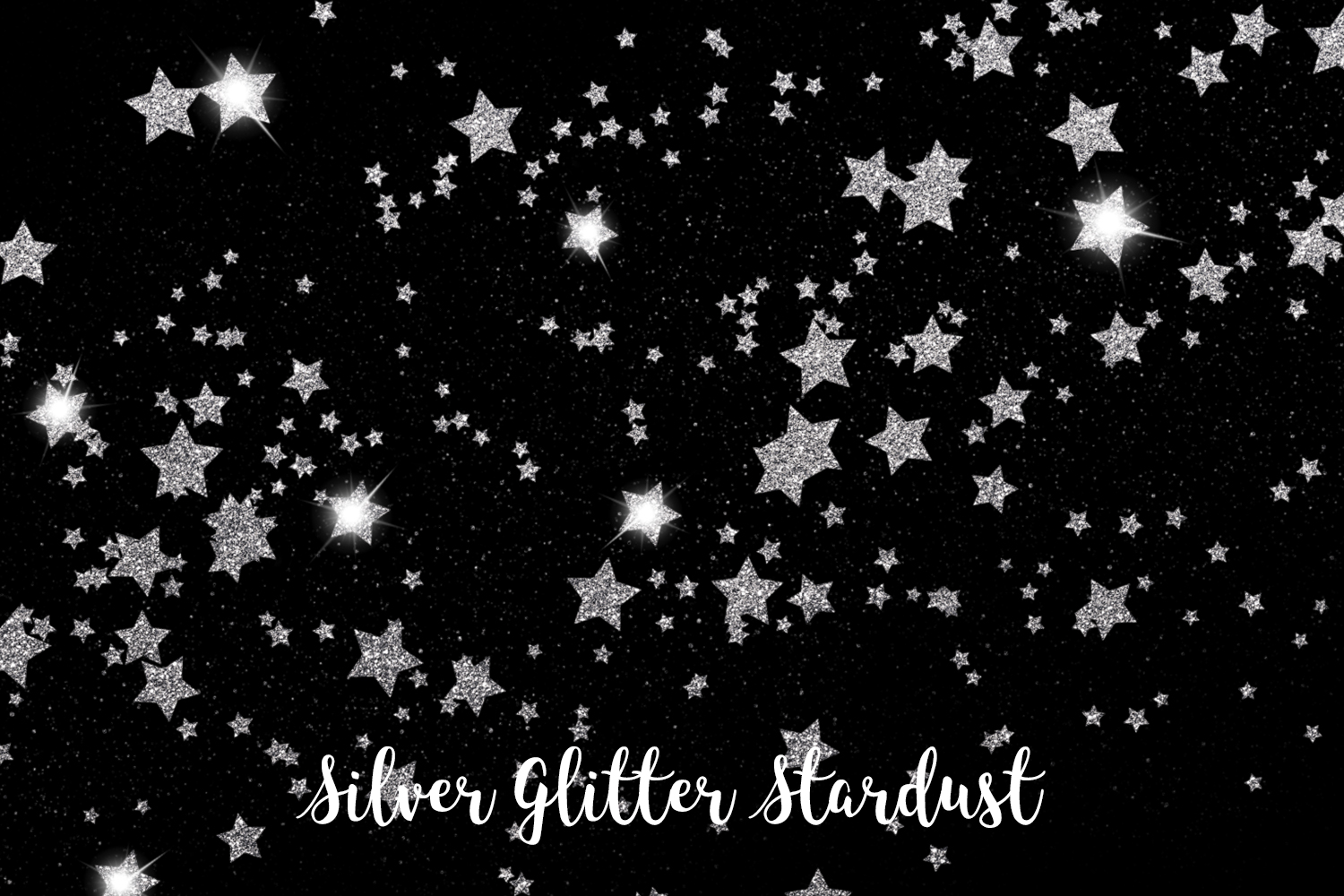 Silver Glitter Stardust, Transparent PNG example image 4