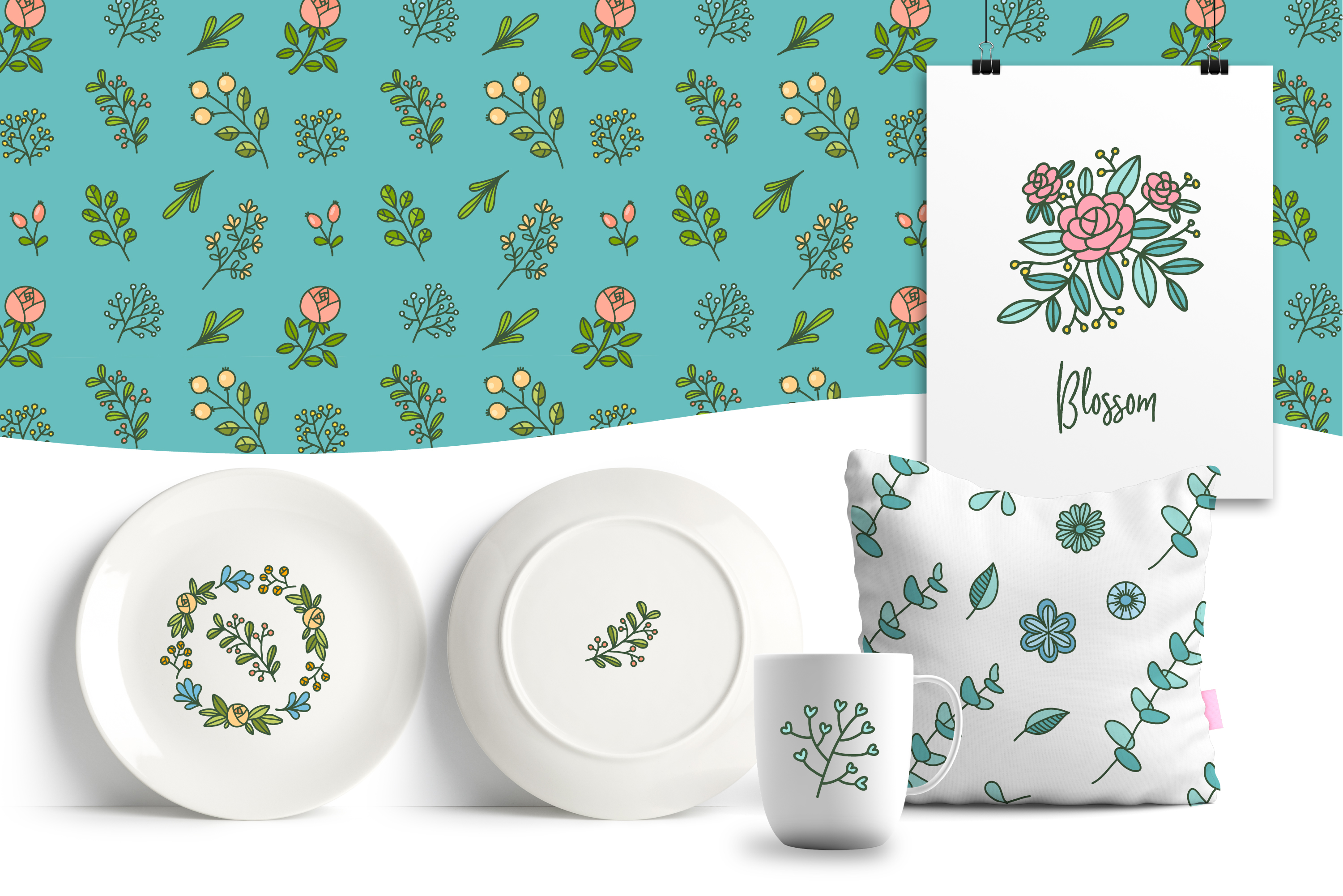 HUGE - Hand Drawn Floral Vectors and Patterns example image 5