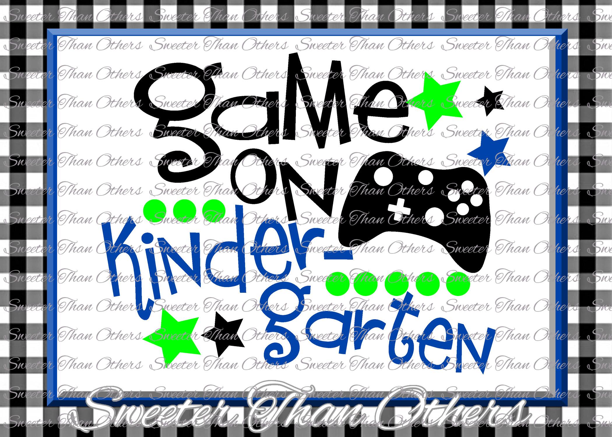 Kindergarten SVG Kindergarten Game On cut file First Day example image 1