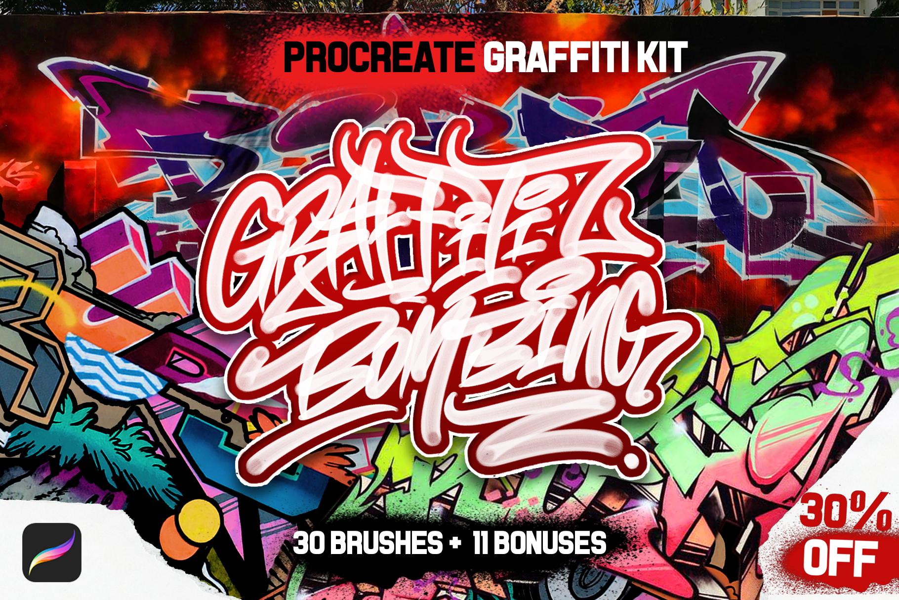 PROCREATE GRAFFITI BOMBING example image 1