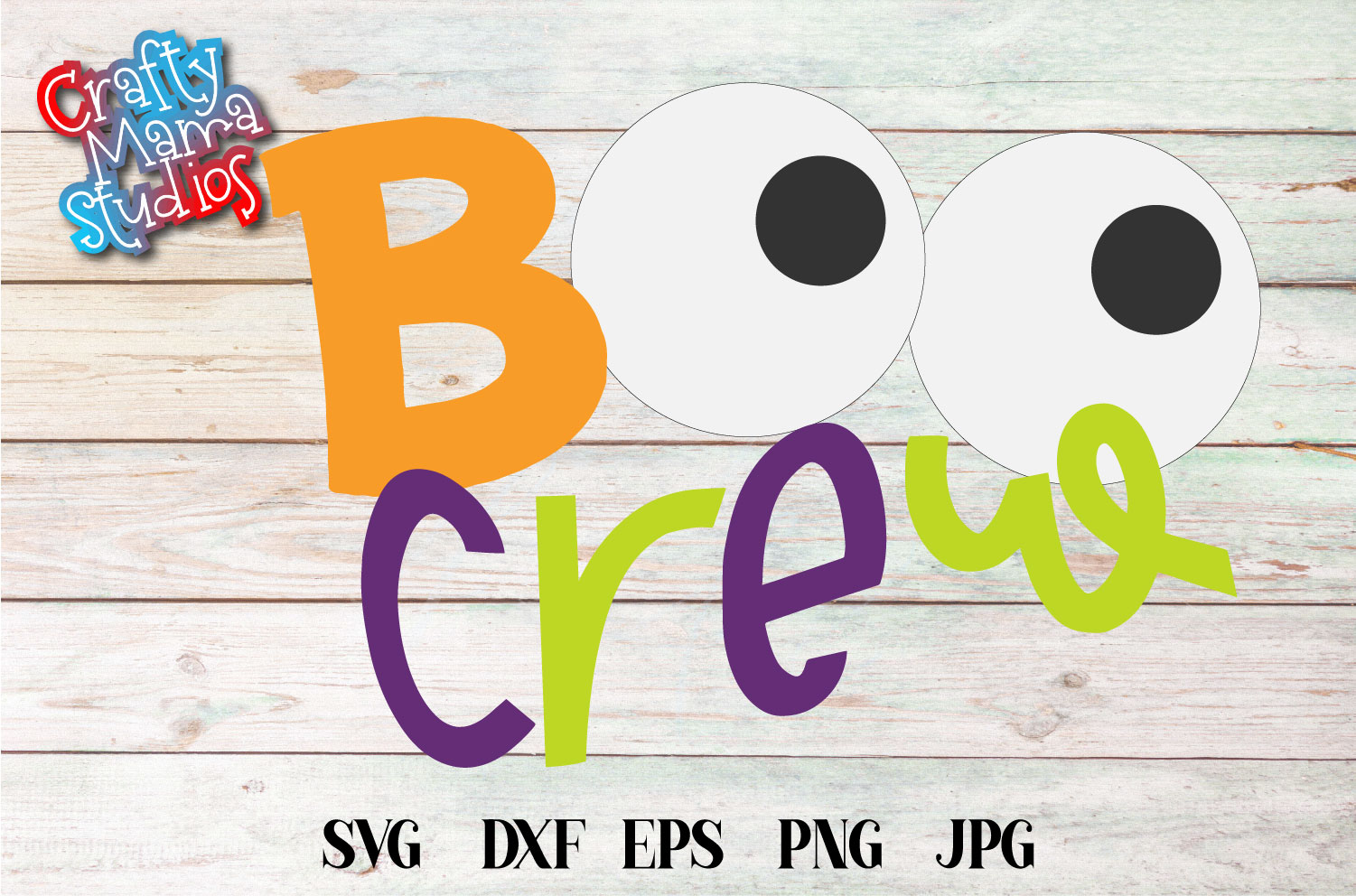 Boo Crew Halloween SVG Sublimation, Halloween Eyes SVG example image 2