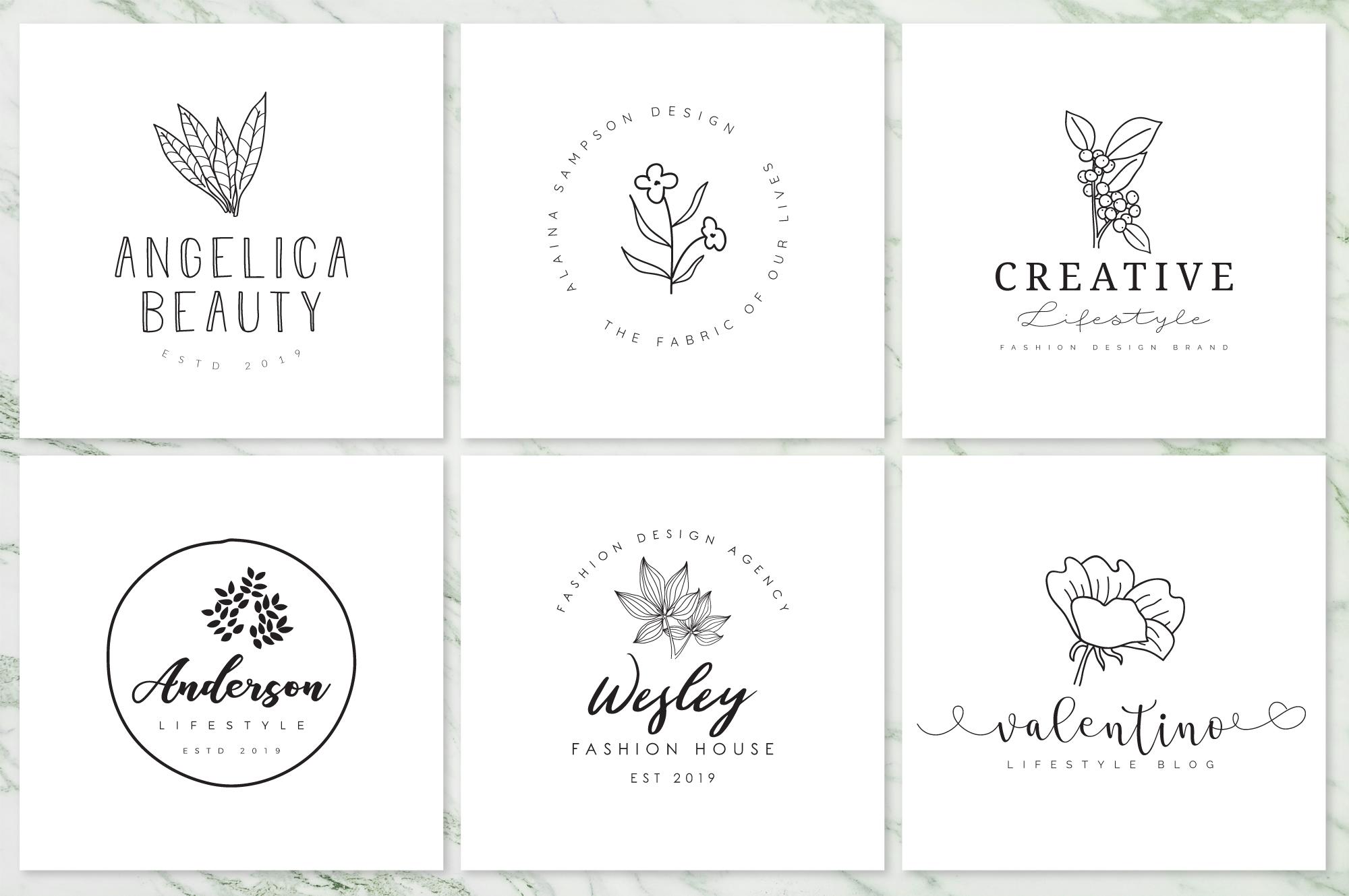 Feminine Branding Premade Logos V02 example image 5