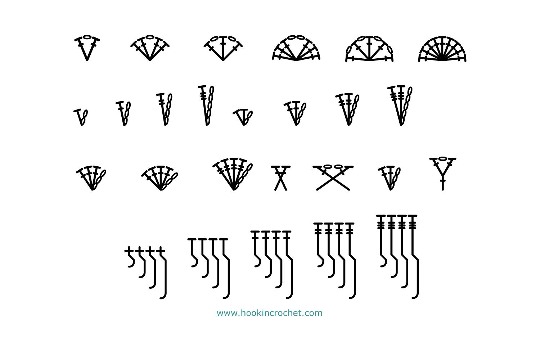 HookinCrochet Symbols 1 Font Software example image 6