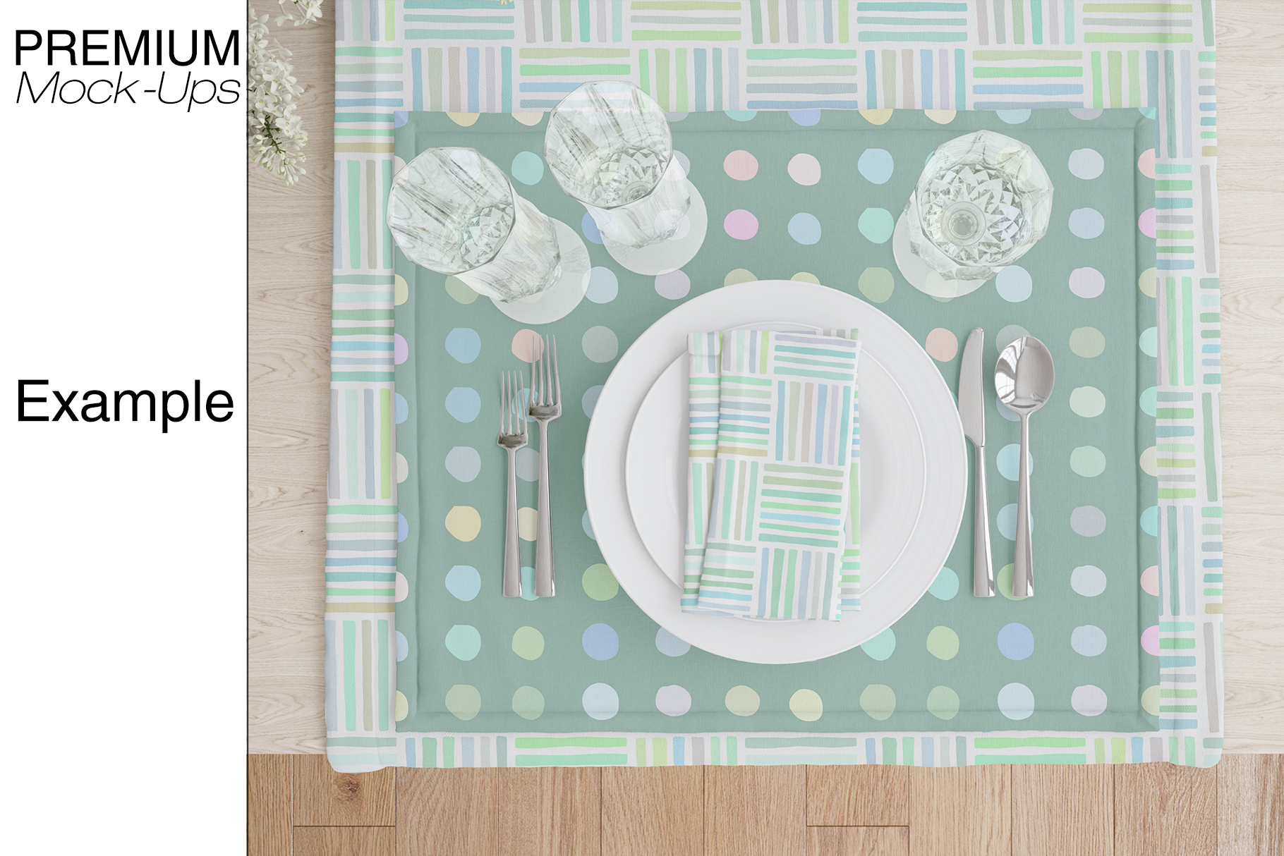 Tablecloth, Runner, Napkins & Plates example image 9