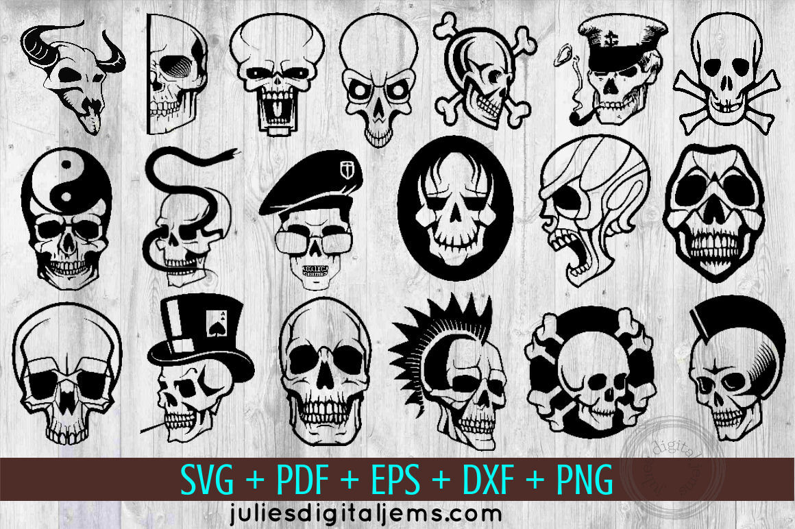 Skull svg Halloween bundle of 19 by Julies Homemade Jems example image 1