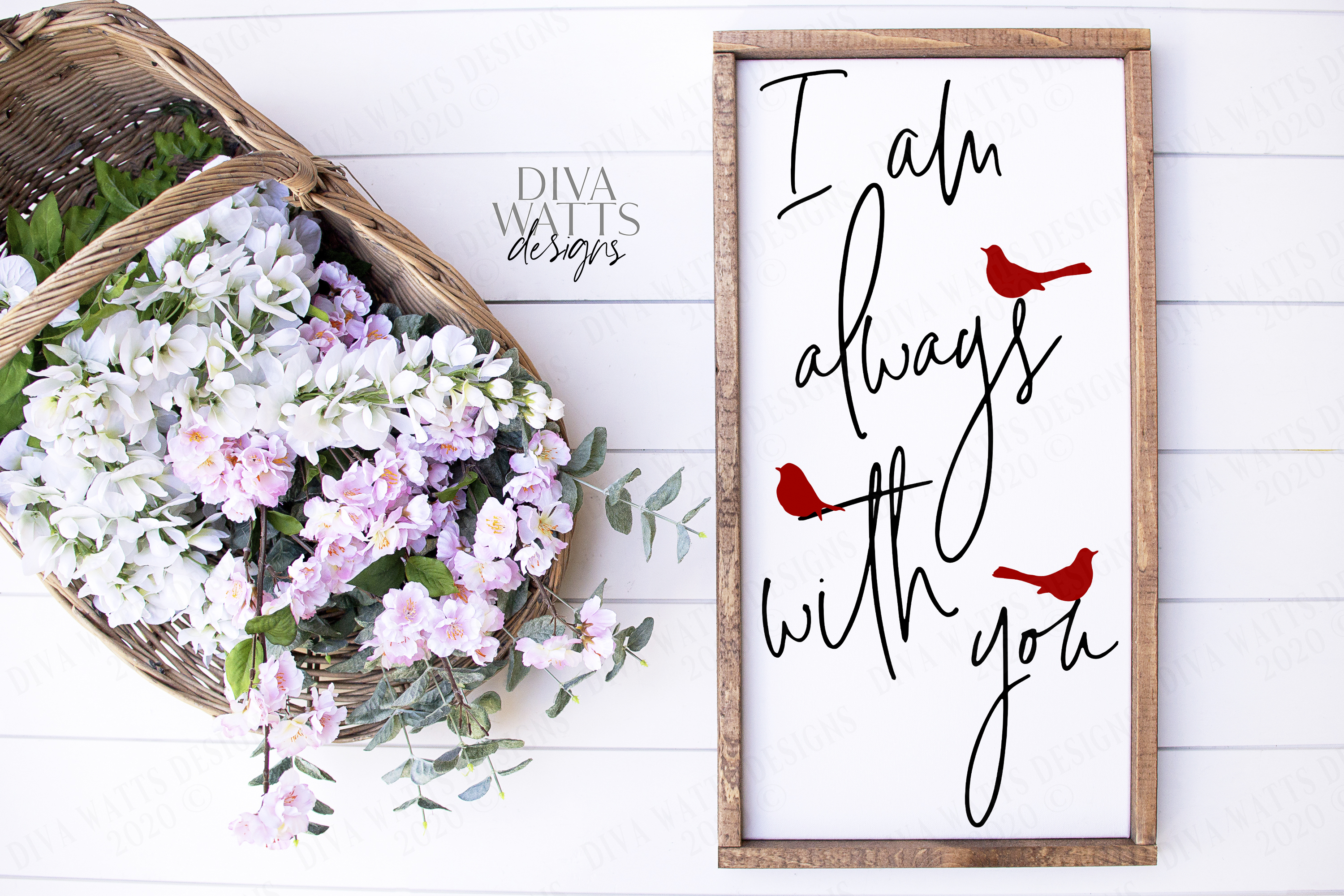 I am always with you - Red Cardinal - Grief Loss SVG DXF JPG example image 1