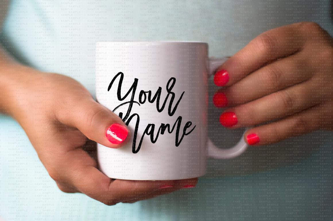 Hands Holding Mug Mockup Bundle example image 4