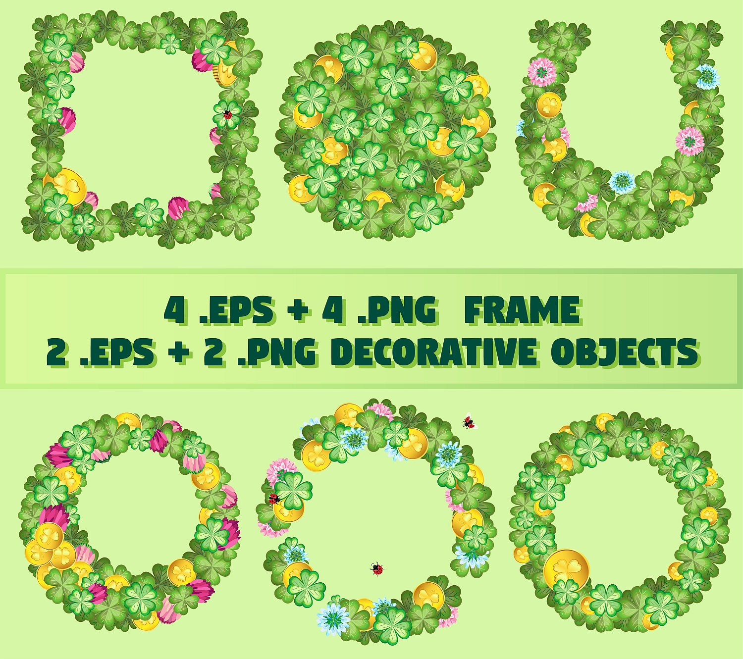 Set of elements for the st. Patrick`s Day example image 3
