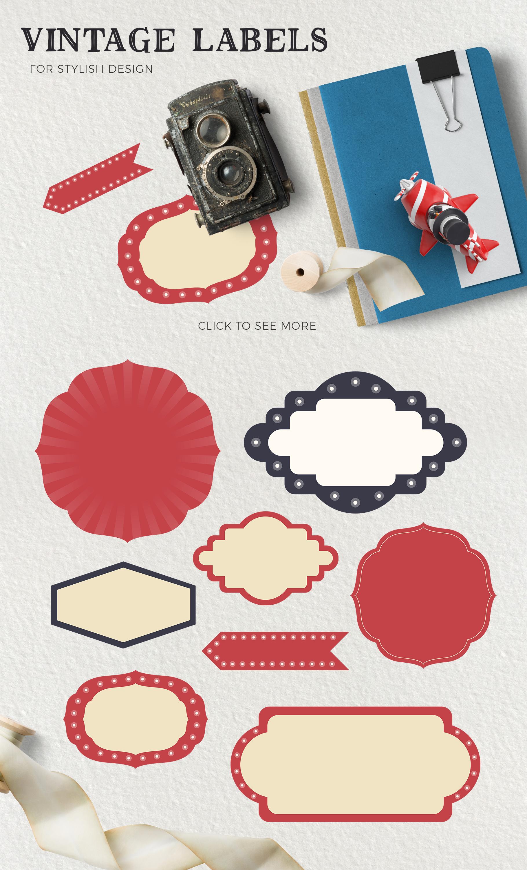 The Magic Circus vintage design set example image 7