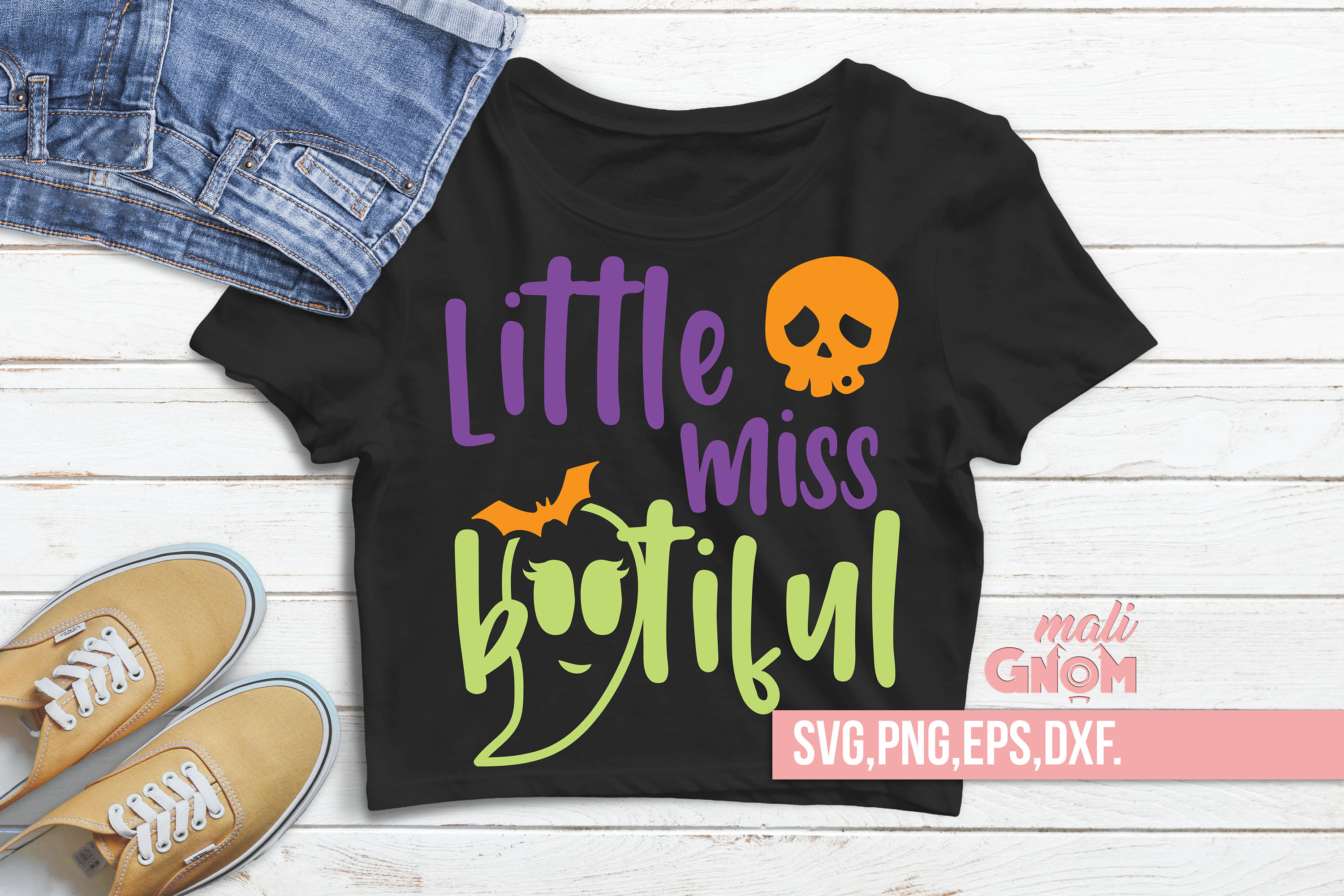 Little Miss Bootiful SVG, Halloween SVG file, Trick or Treat example image 2