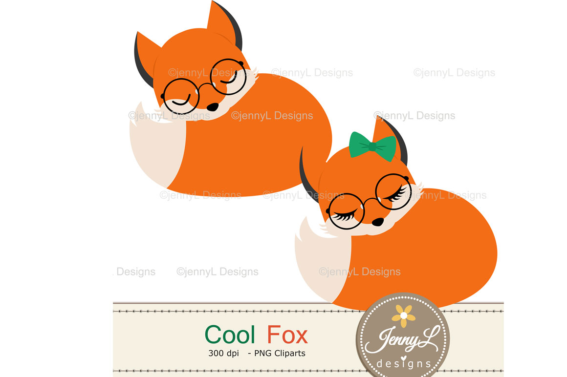 Woodland Fox Digital Papers and Clipart example image 5