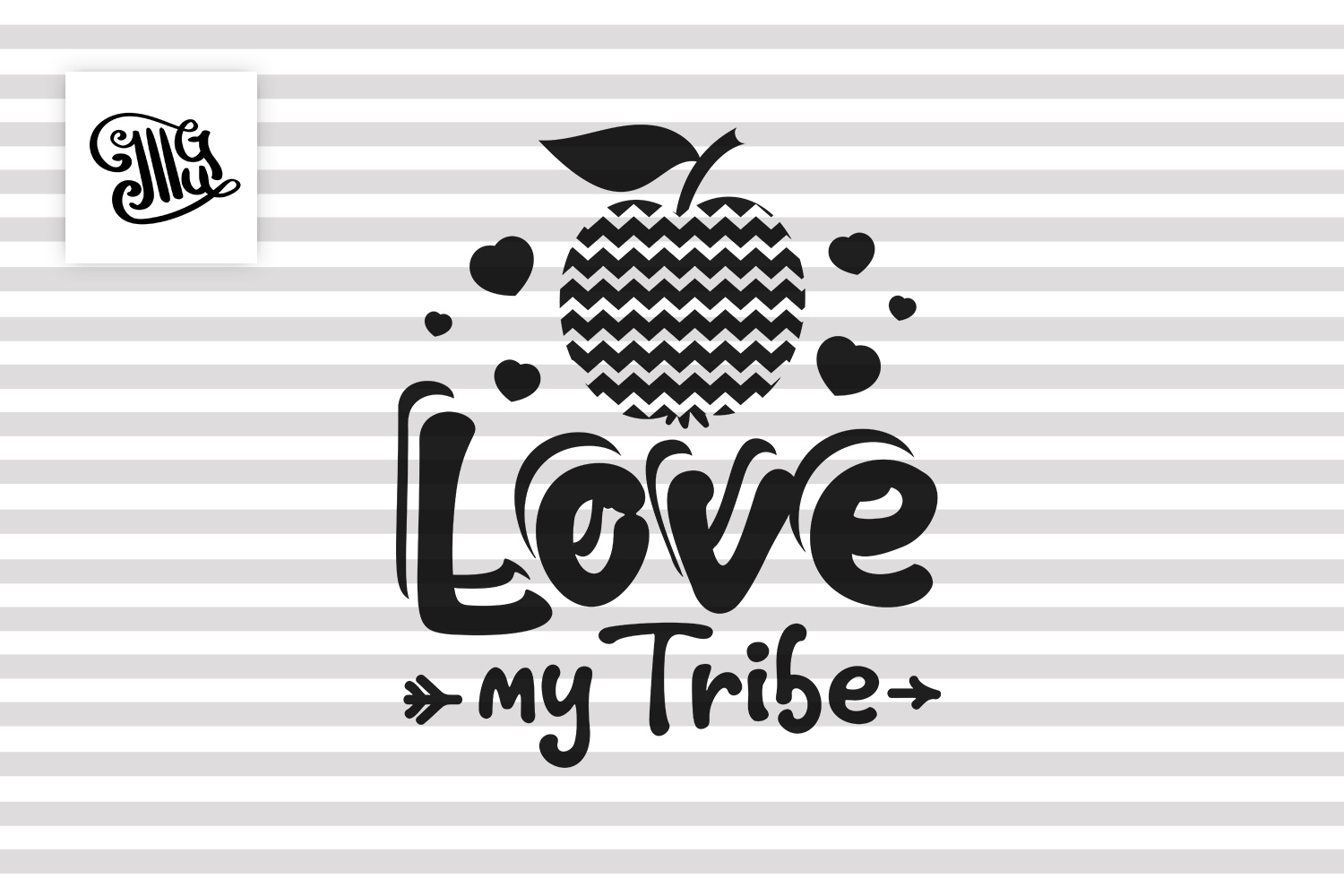 Love my tribe svg for teacher Valentines day example image 2