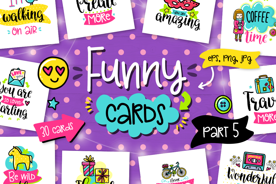 30 Funny Color Cards with Quote example image 1