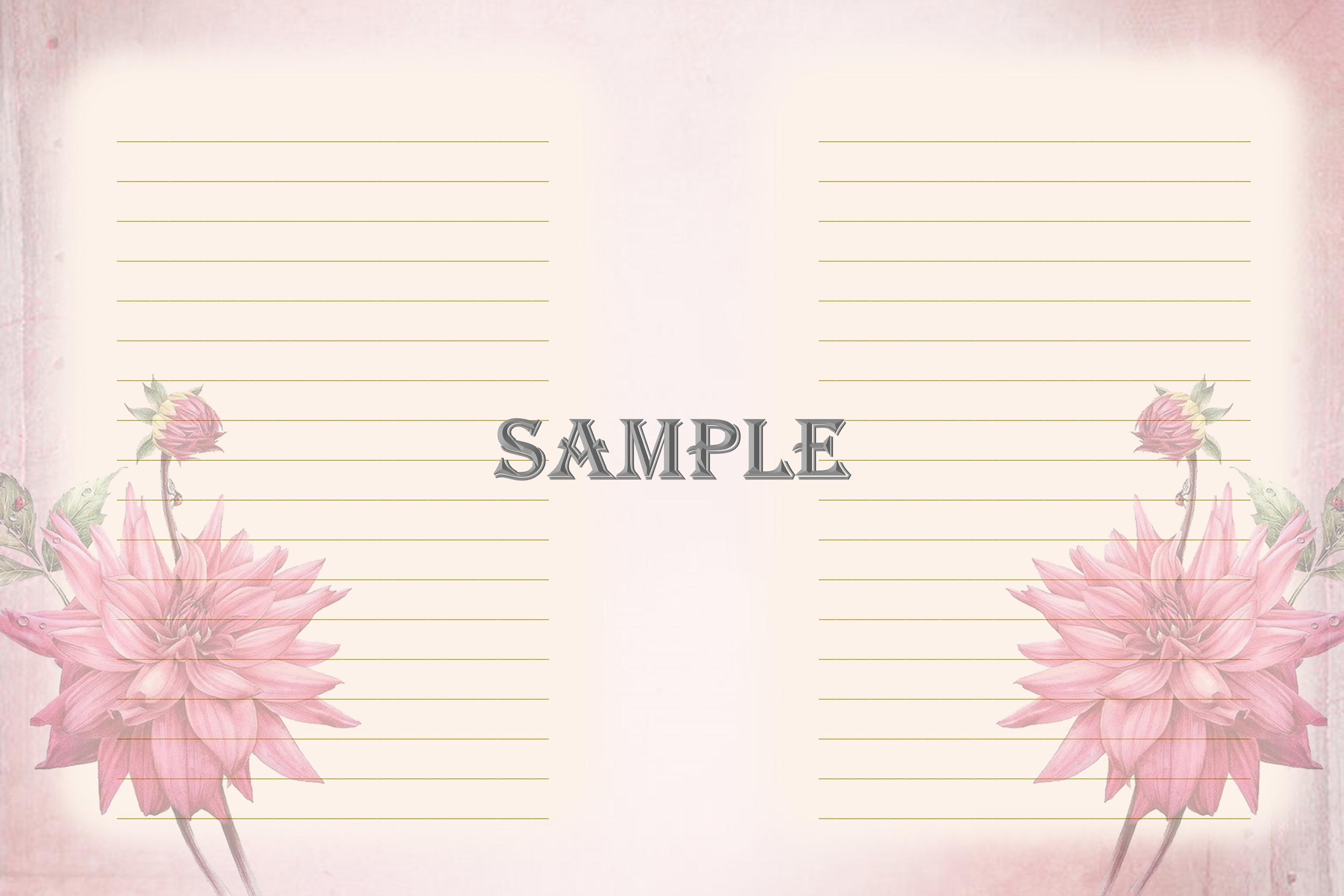 Vintage Ladies Backgrounds, Collage or Journal Sheets, A4 example image 7