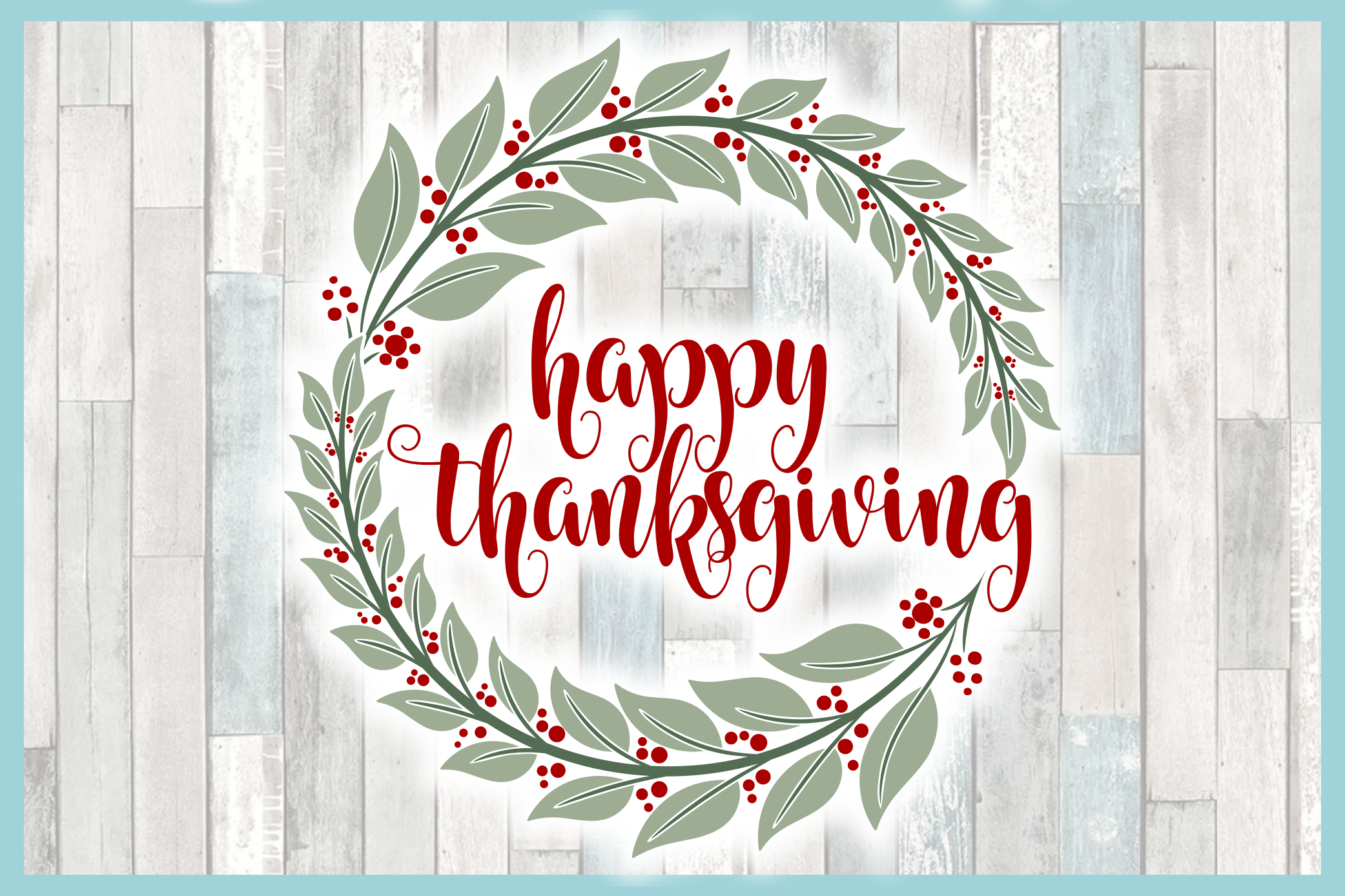 Happy Thanksgiving with Wreath SVG example image 3