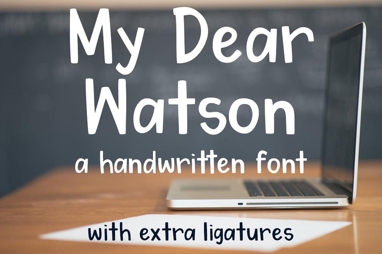 My Dear Watson Font example image 1