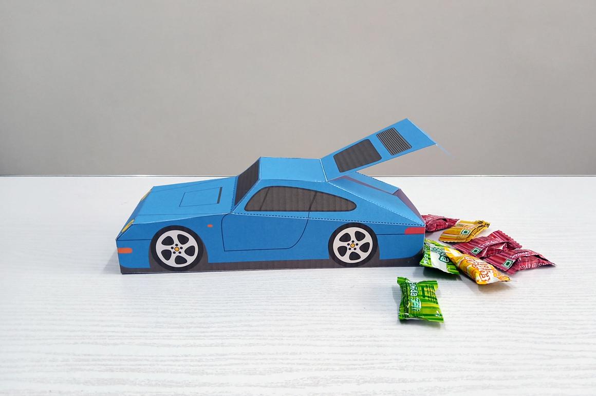 DIY Porsche Car favor - 3d papercraft example image 4