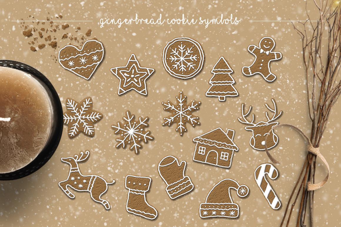 Gingerbread Cookie Letters  Bonus example image 3