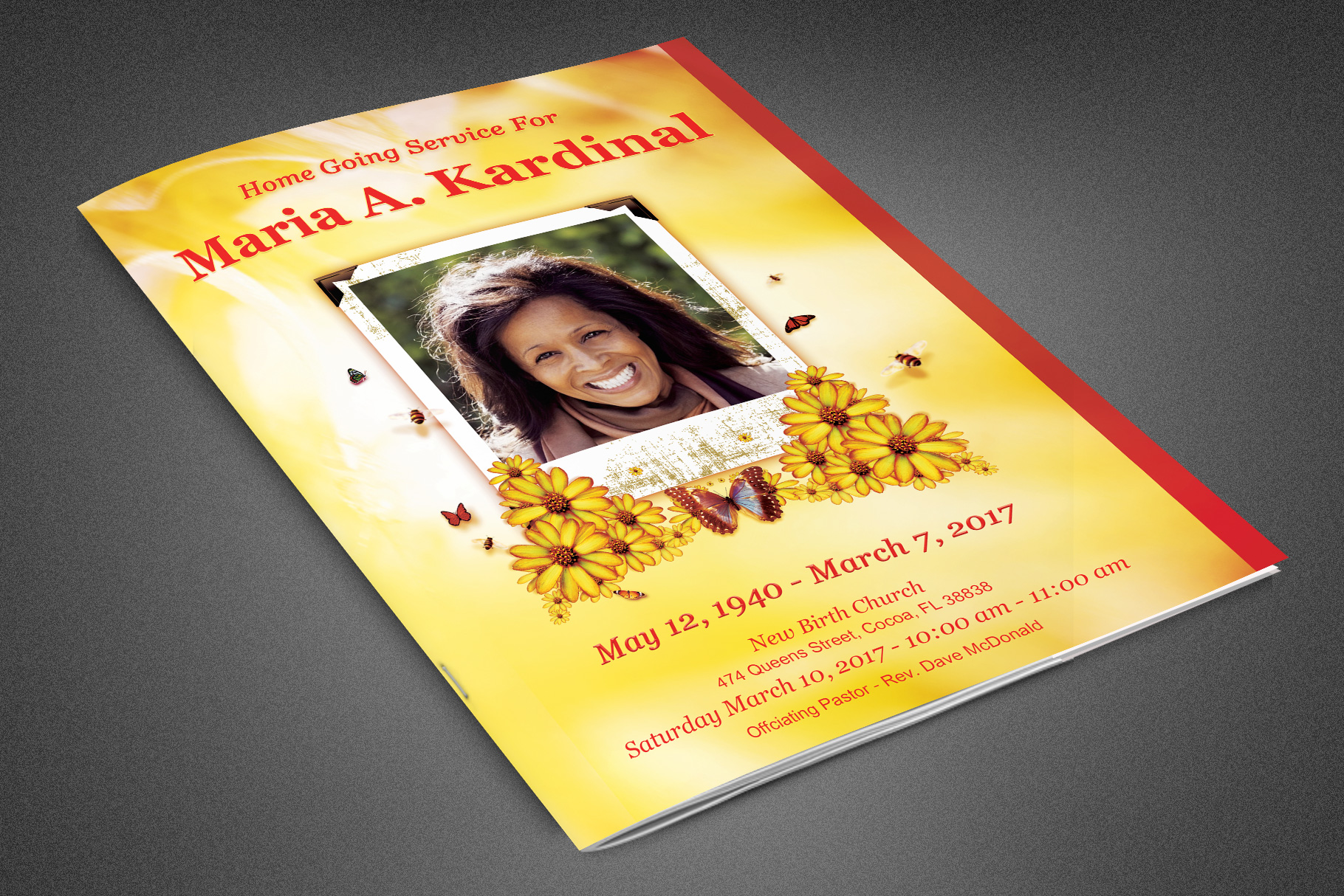Light of Life Funeral Program example image 1