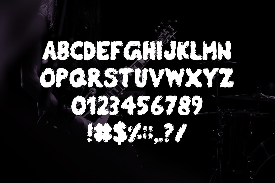 Burly Stain Typeface example image 5