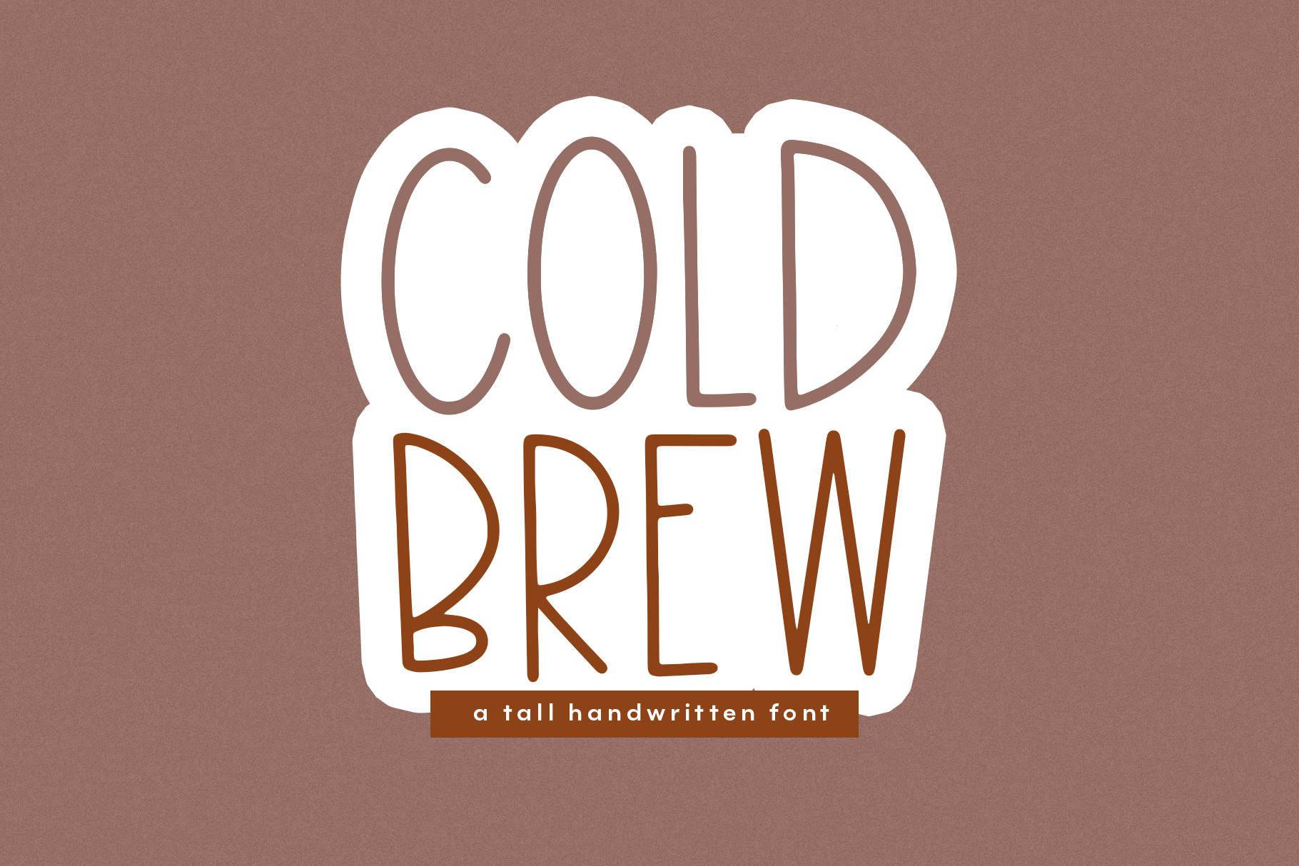 Cold Brew - A Thin & Tall Handwritten Font example image 1