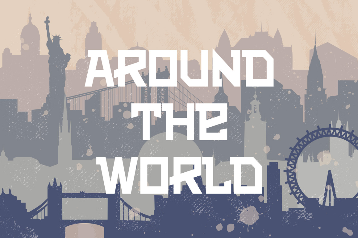 Vintage vector background about travel.  example image 2