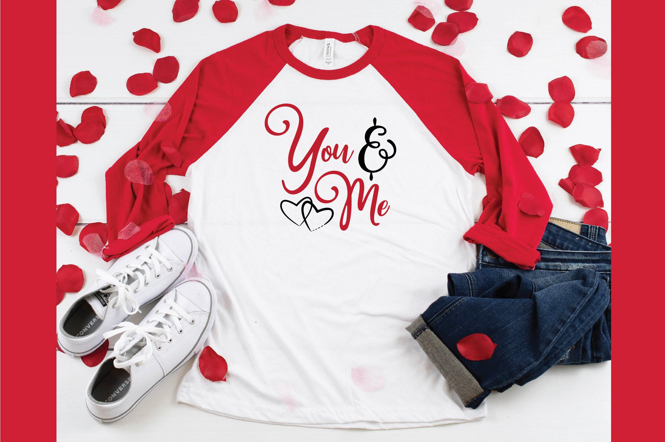 You & Me SVG Cut File - Valentine SVG EPS DXF PNG PDF AI example image 5