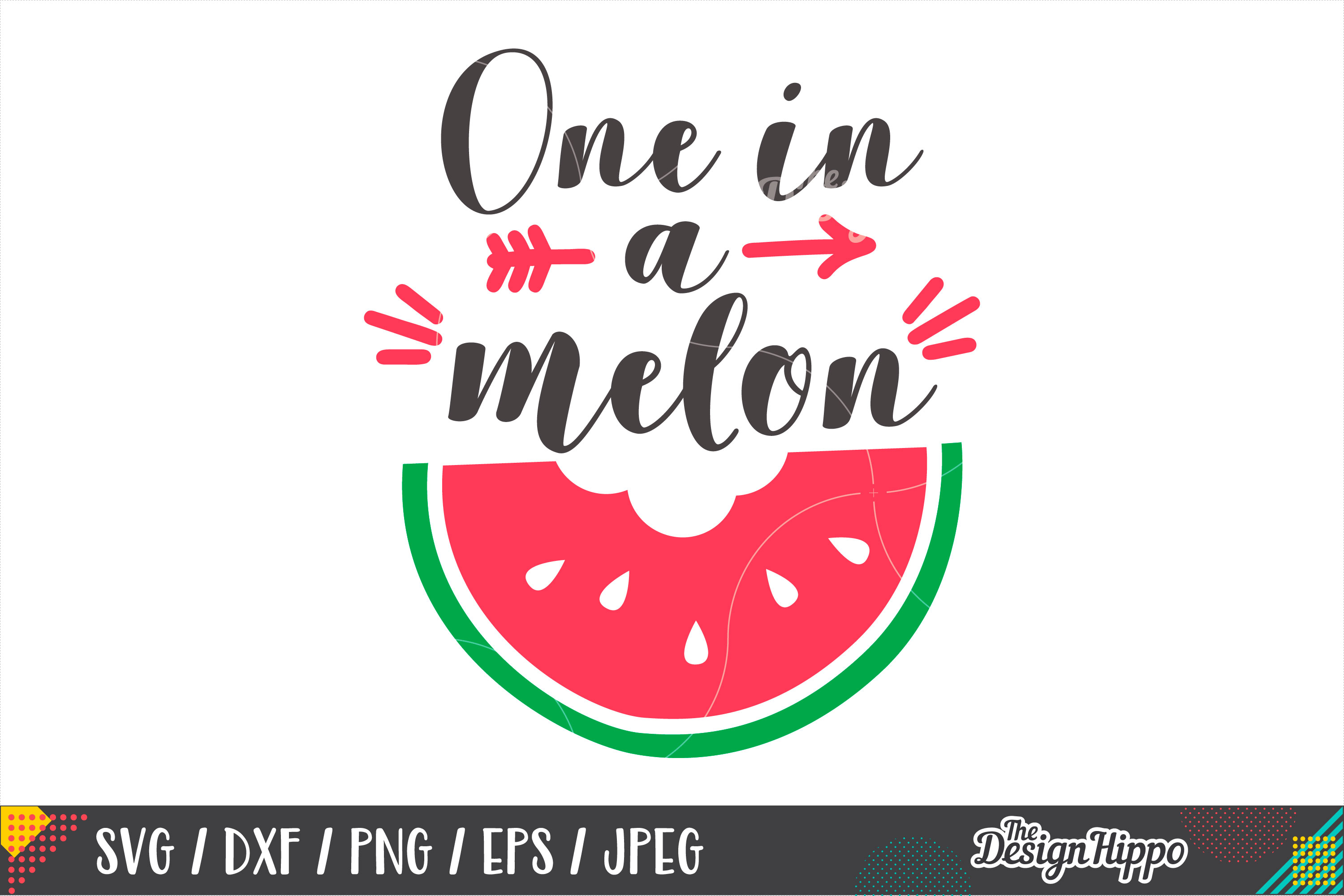 One In A Melon SVG, Baby, Summer, SVG PNG DXF Cutting Files example image 1